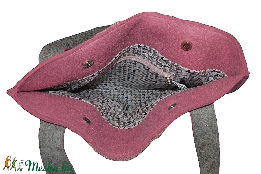 Filc-kötött táska rózsaszín