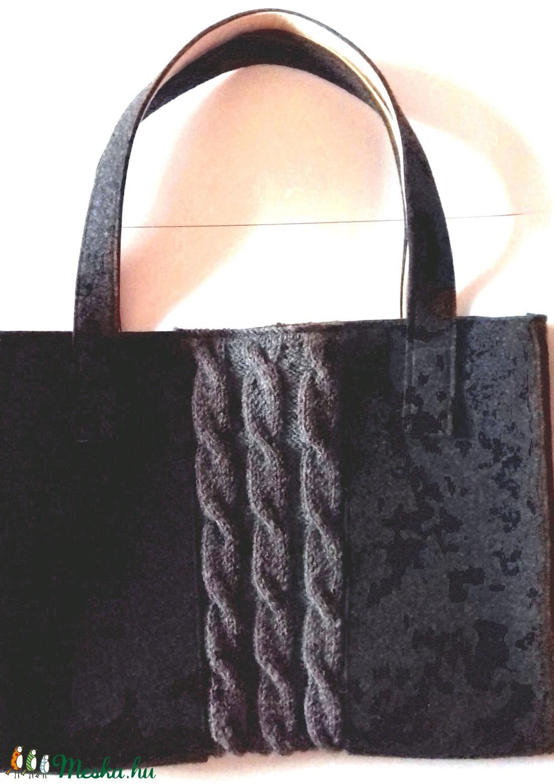 Filc-kötött táska