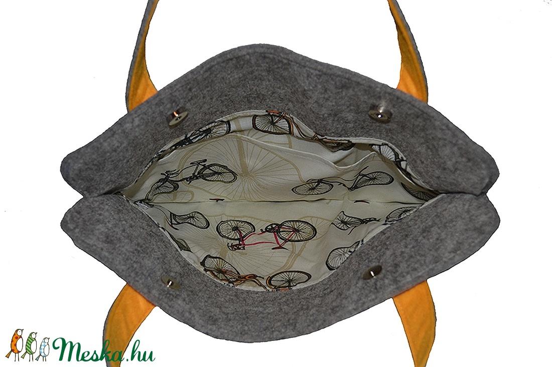 Filc laptop-táska sárga pánttal (Colibrishop) - Meska.hu 5897ab1aa0