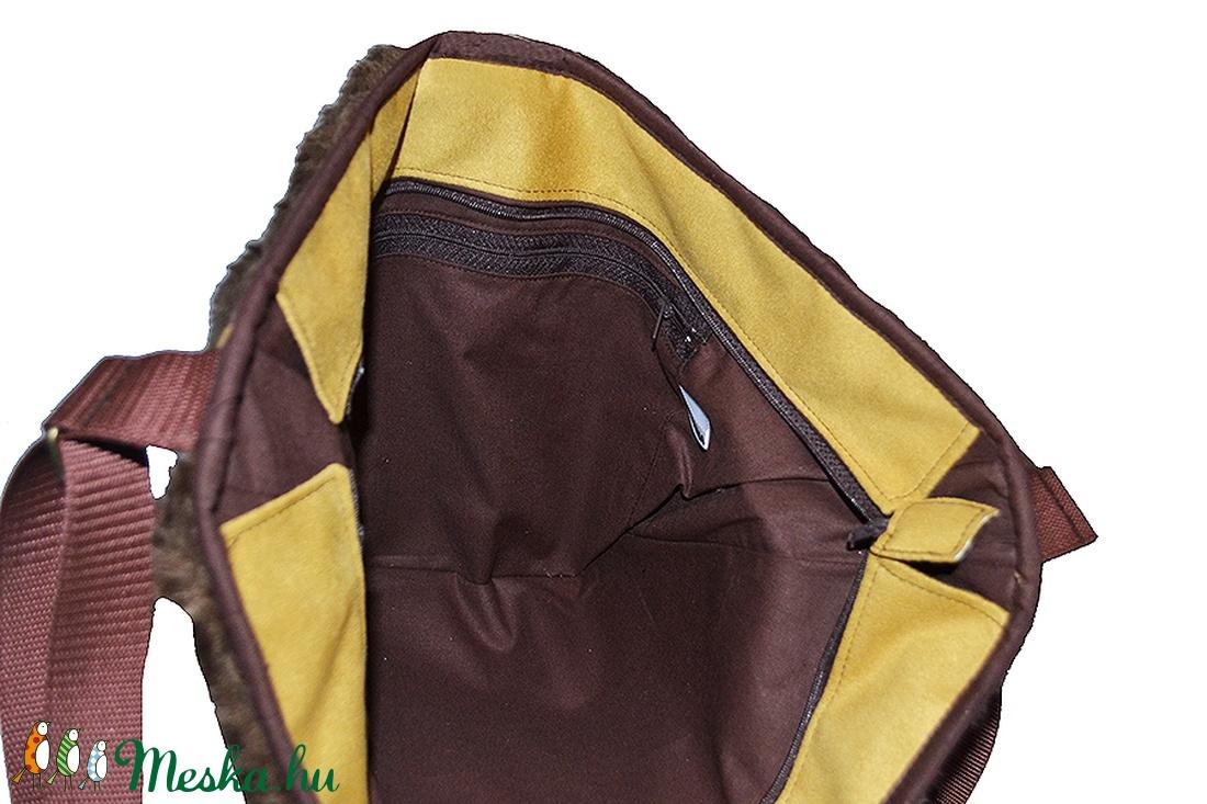 Óriás műszőrme táska barna (Colibrishop) - Meska.hu 99bdf2fc6e