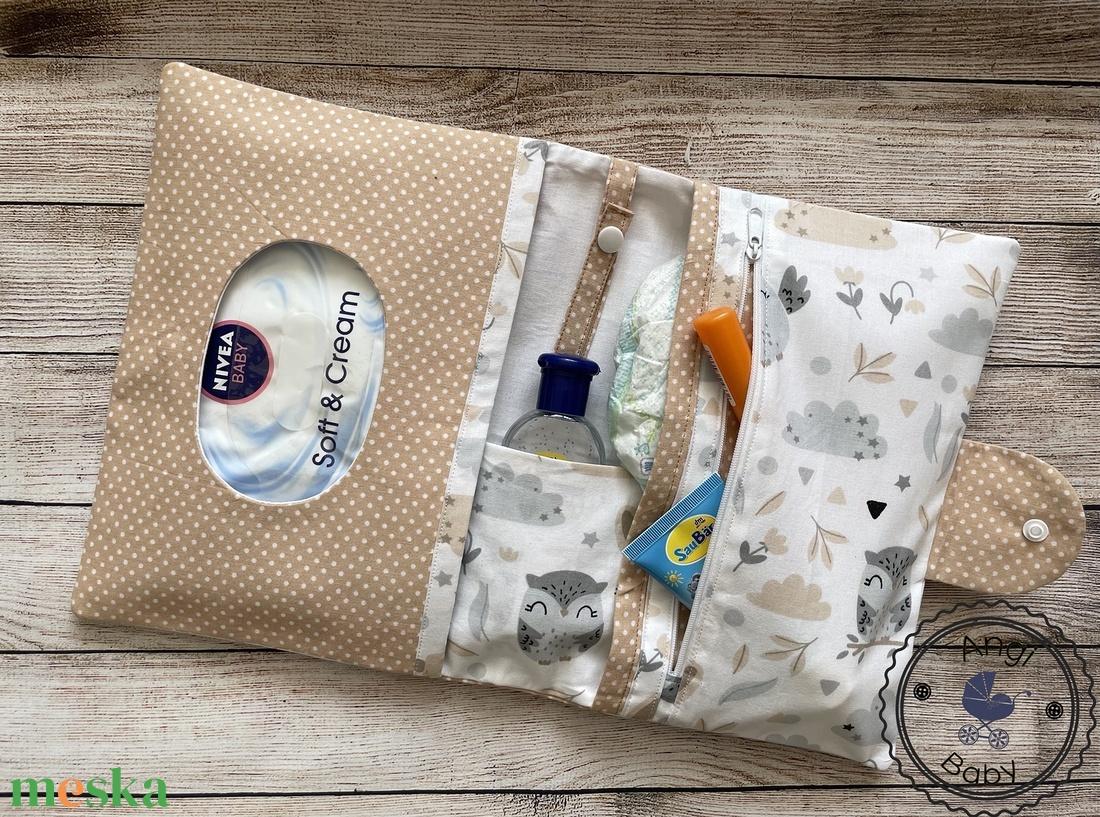 Pelenkatartó táska + egészségügyi kiskönyv borító - játék & gyerek - babalátogató ajándékcsomag - Meska.hu
