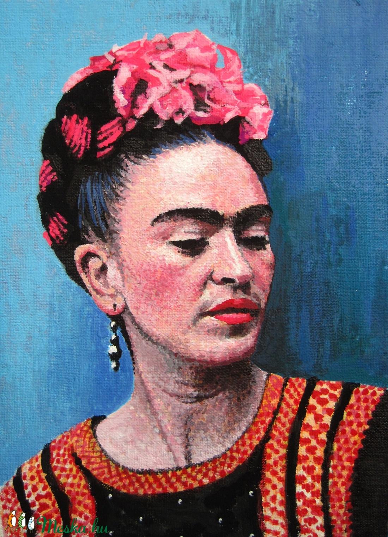 Frida Kahlo - Mini festmény (creator) - Meska.hu