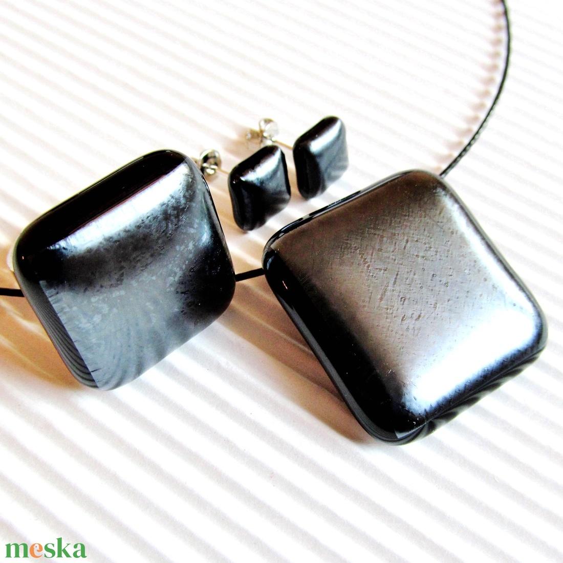 Ezüst szürke metál fény üveg gyűrű, üvegékszer - ékszer - gyűrű - statement gyűrű - Meska.hu