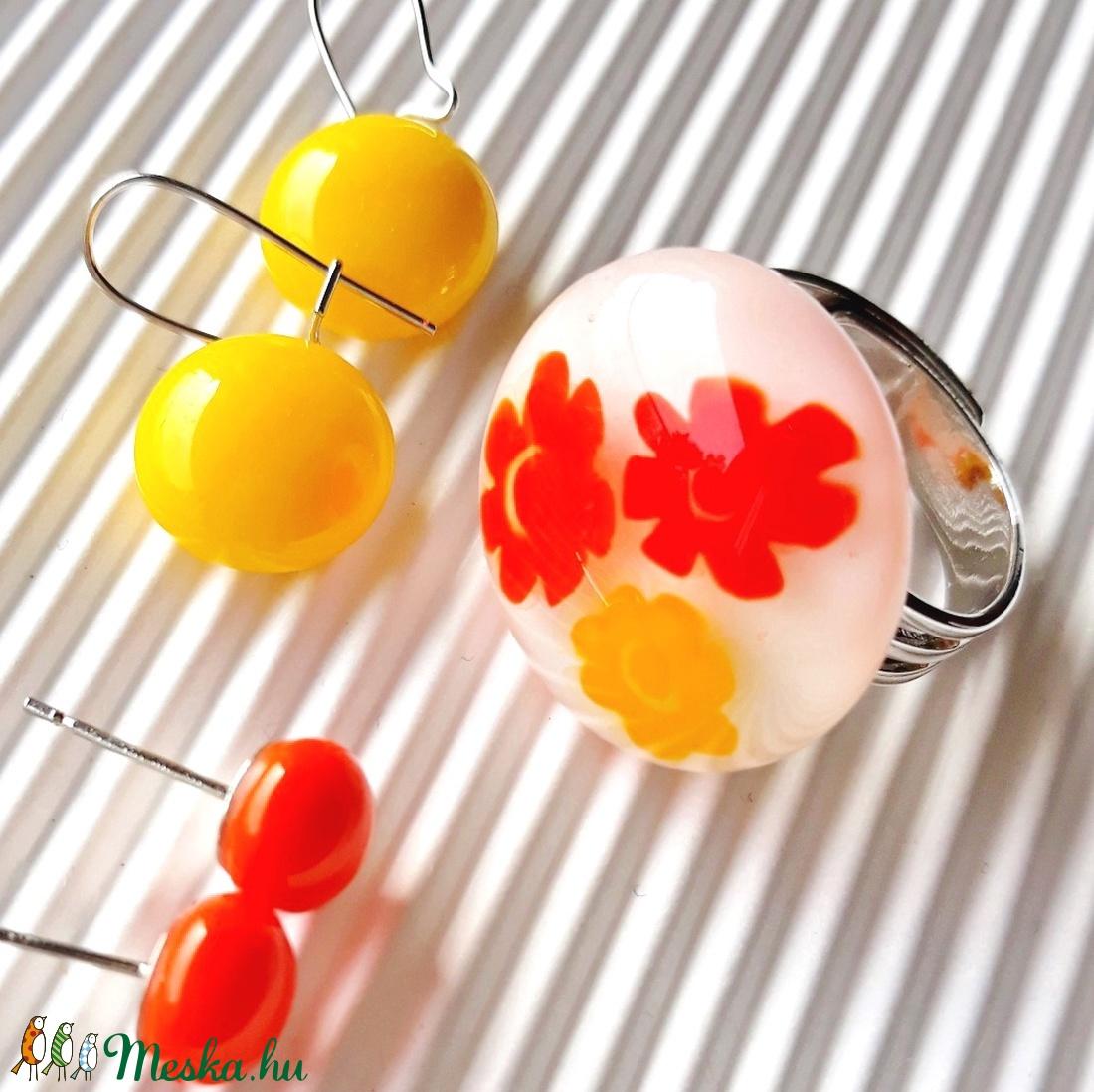 Végtelen nyár üveg gyűrű, üvegékszer - ékszer - gyűrű - statement gyűrű - Meska.hu