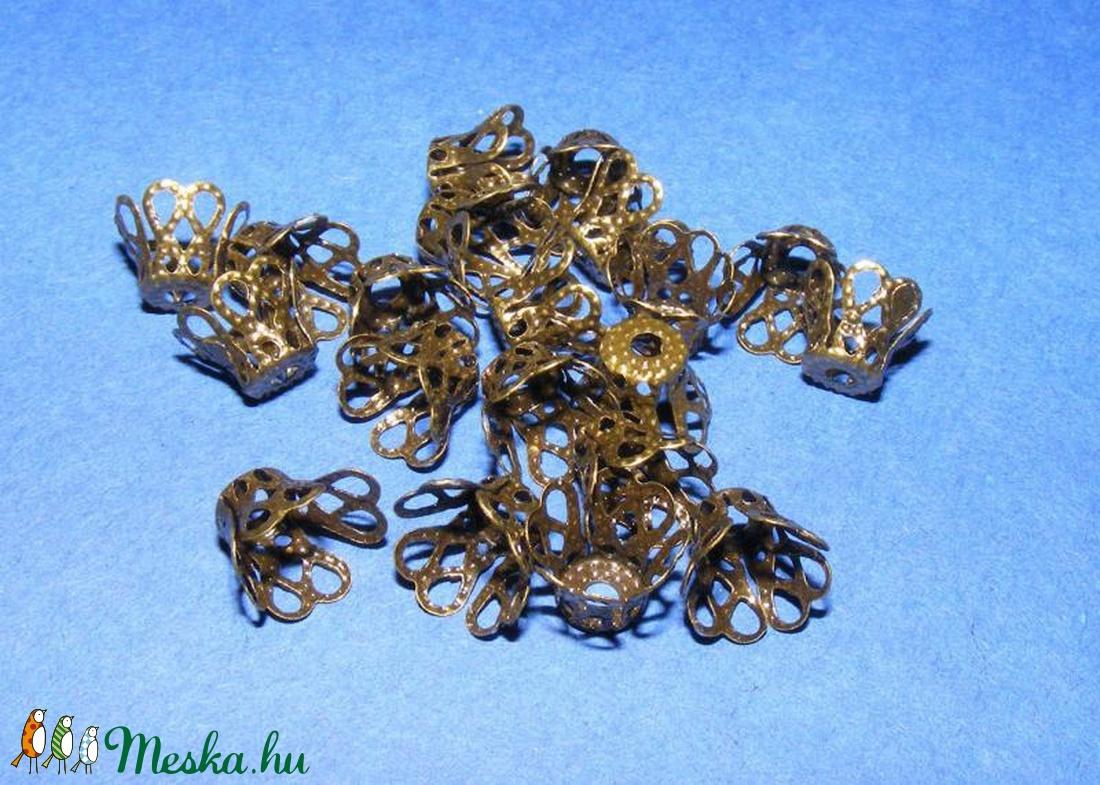 Gyöngykupak (34. minta/10 db) - 9 mm - gyöngy, ékszerkellék - egyéb alkatrész - Meska.hu