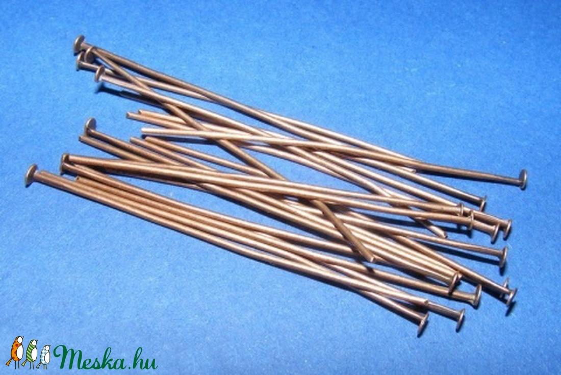Szerelőpálca (1057. minta/20 db) - 50 mm - gyöngy, ékszerkellék - Meska.hu