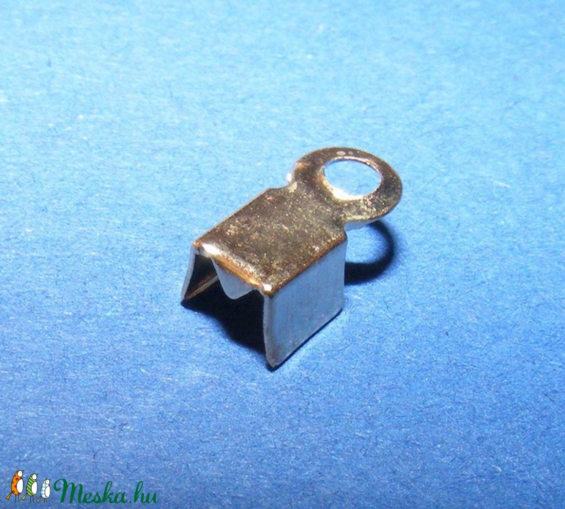 Bőrvég (431/G minta/10 db) - 8x4x3 mm - gyöngy, ékszerkellék - Meska.hu