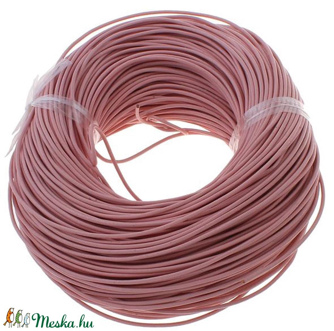 Hasított bőrszíj - 2 mm (2. minta/1 m) -  rózsaszín (csimbo) - Meska.hu