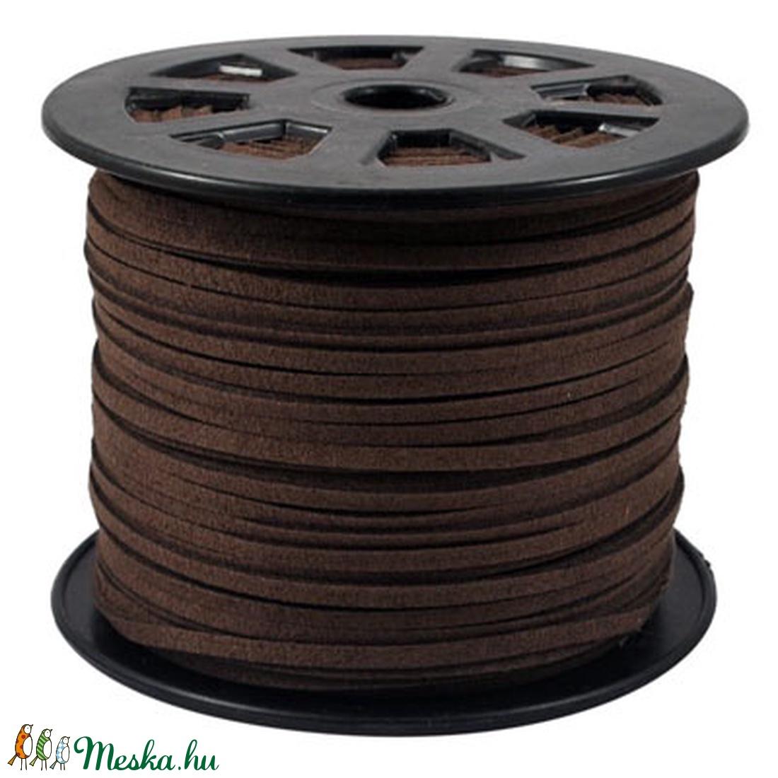 Szarvasbőr utánzat-13 (3x1,5 mm/1 m) - csokoládébarna (csimbo) - Meska.hu