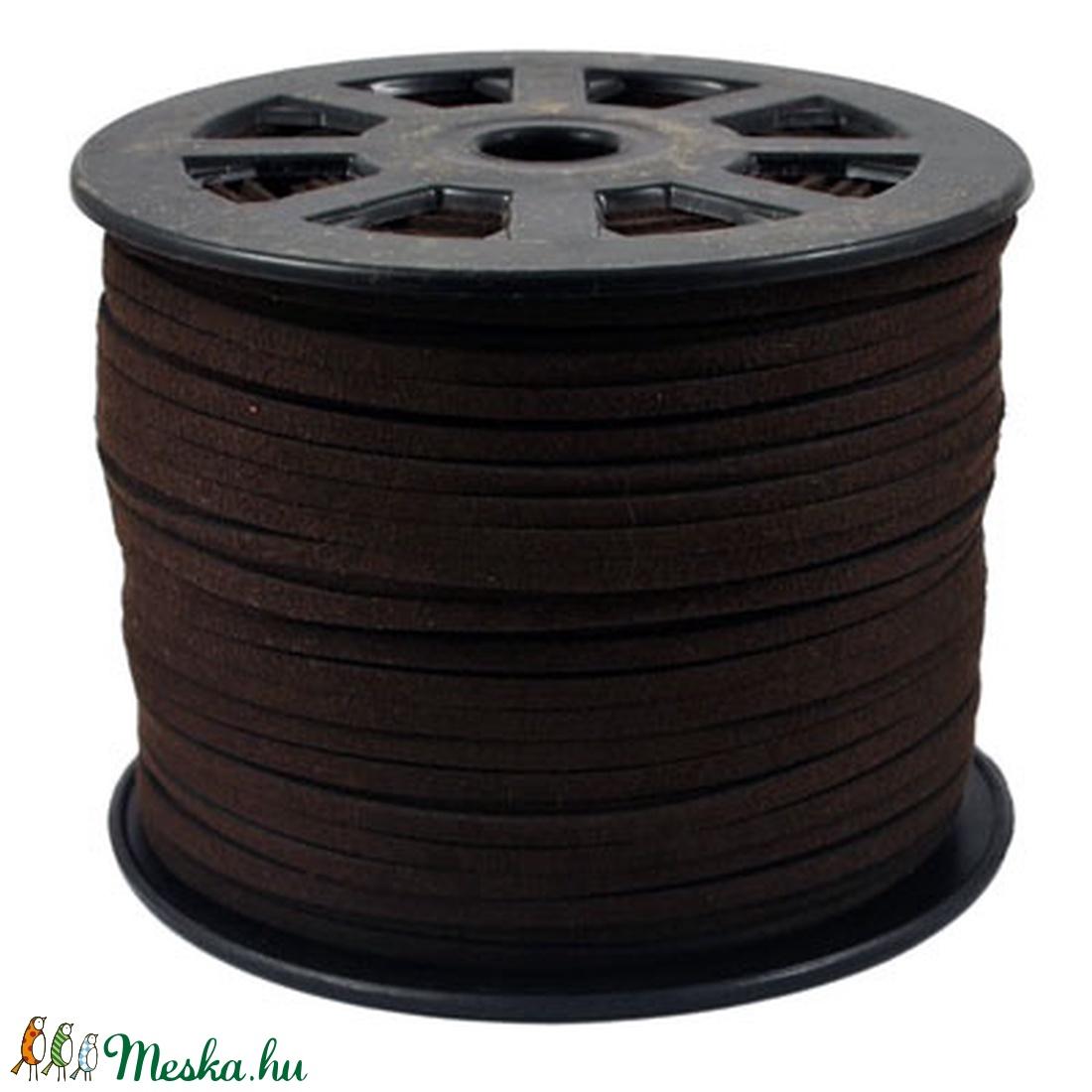 Szarvasbőr utánzat-8 (3x1,5 mm/1 m) - kakaóbarna (csimbo) - Meska.hu