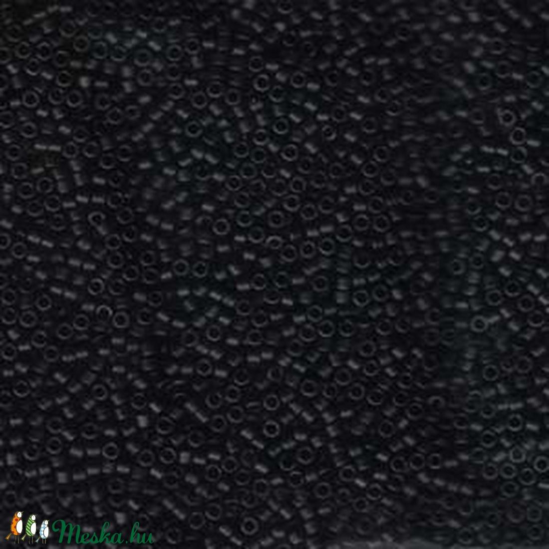 Miyuki delica kásagyöngy (22. minta/5 g) - matt fekete (csimbo) - Meska.hu