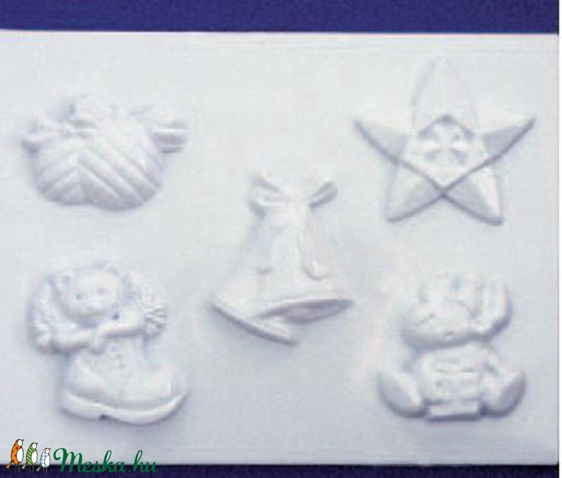 Karácsony-20 - gipszöntő forma (5 motívum) - karácsonyi figurák (csimbo) - Meska.hu