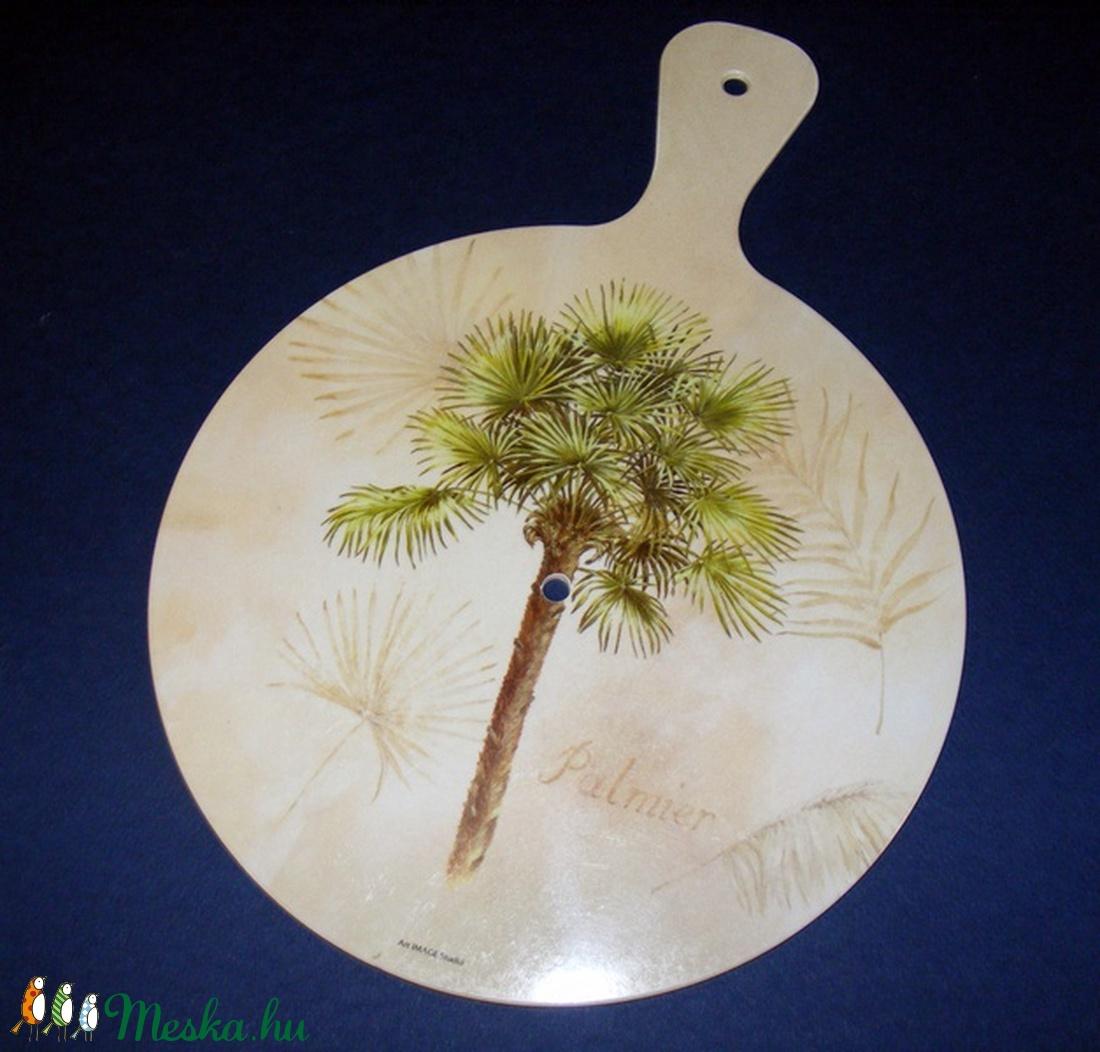 Műanyag óralap (33x24 cm/1 db) - pálmafa (csimbo) - Meska.hu