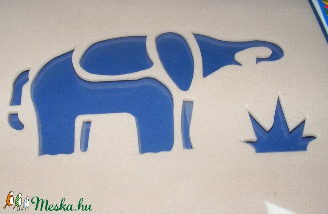 Sablon (15x12 cm/1 db) - elefánt (csimbo) - Meska.hu