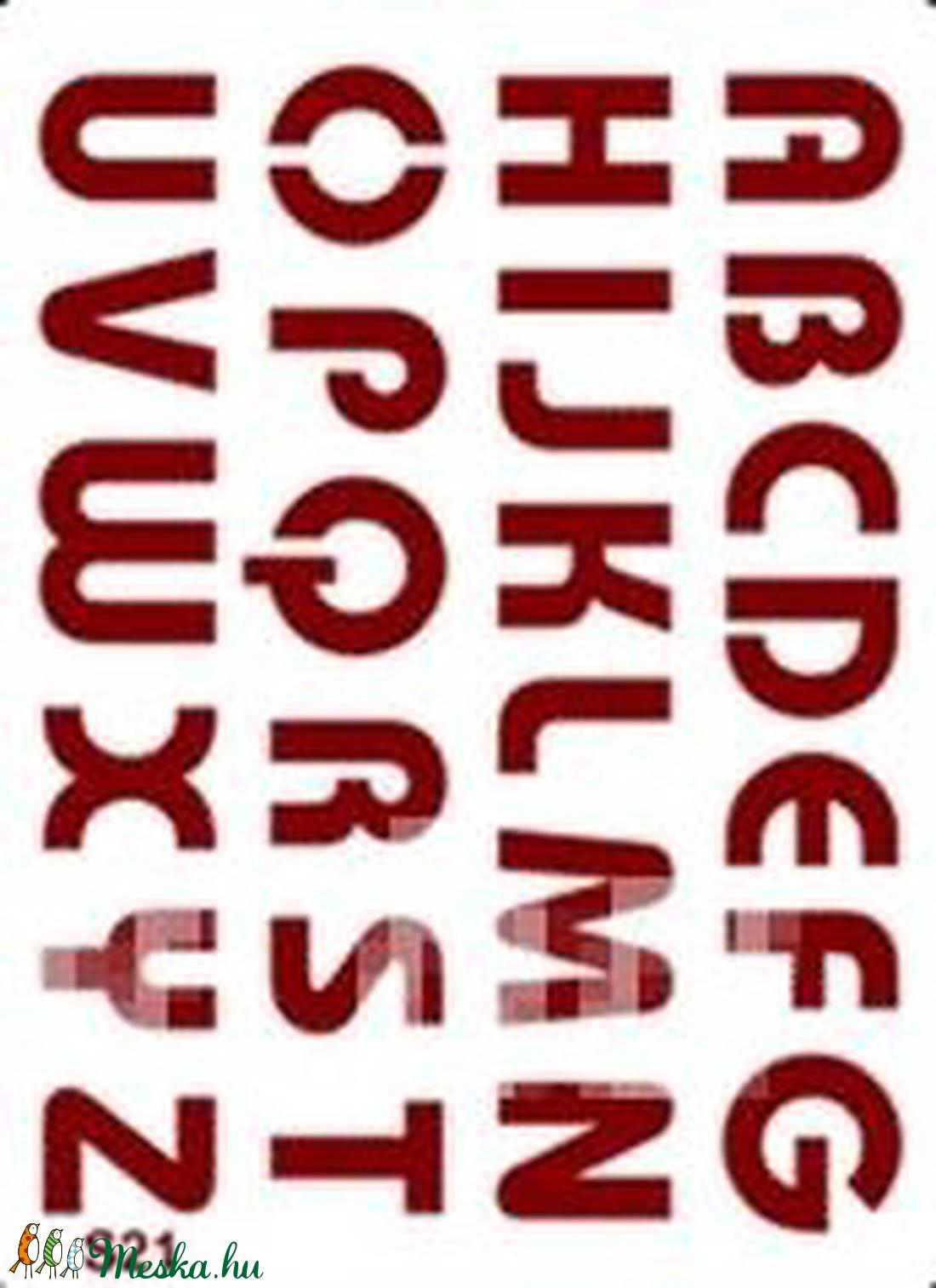 Sablon - S21 (14,5x20 cm/1 db) - nyomtatott nagybetűk (csimbo) - Meska.hu