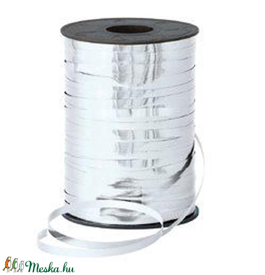 Kötözőszalag (5 mm/10 m) - metál ezüst (csimbo) - Meska.hu