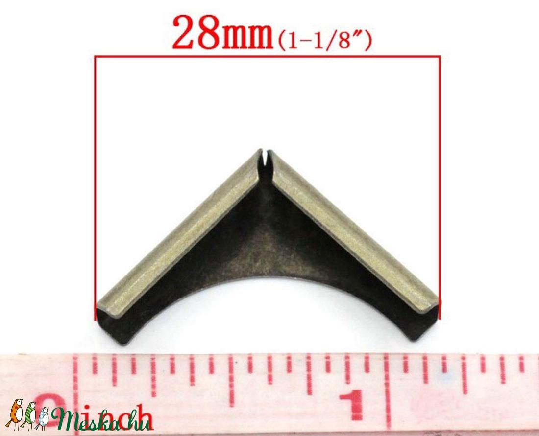 Fémsarok (6. minta/1 db) - 20x20 mm - csat, karika, zár - Meska.hu