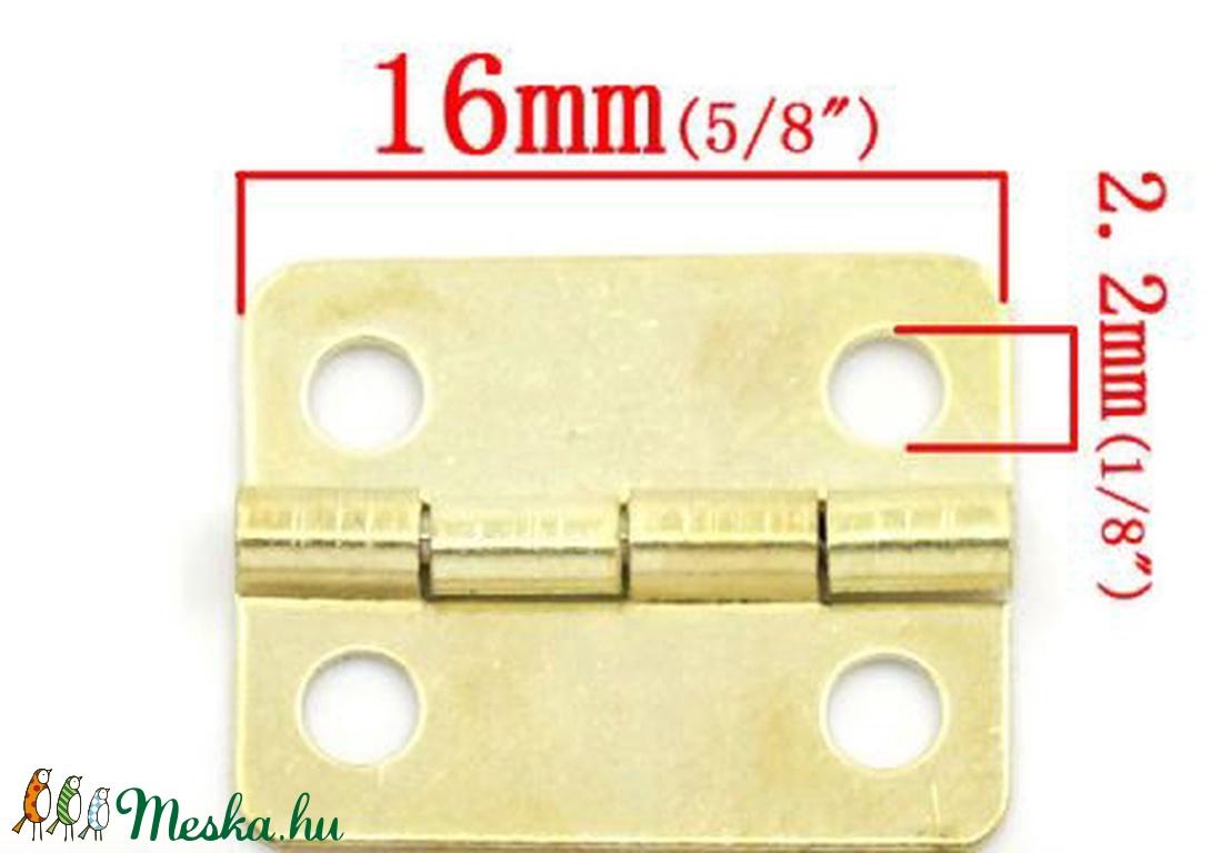 Zsanér (9. minta/1 db) - 16x13 mm - csat, karika, zár - Meska.hu