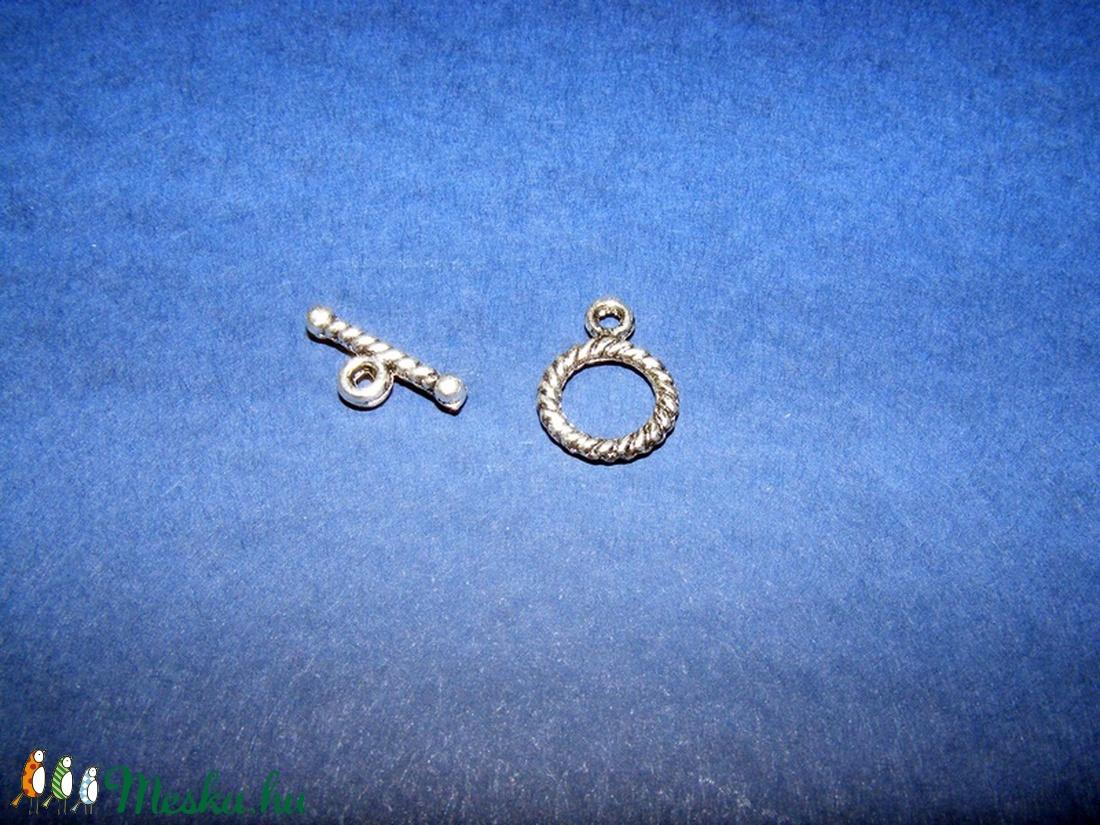 T-kapocs (K80. minta/1 db) - antik ezüst (csimbo) - Meska.hu