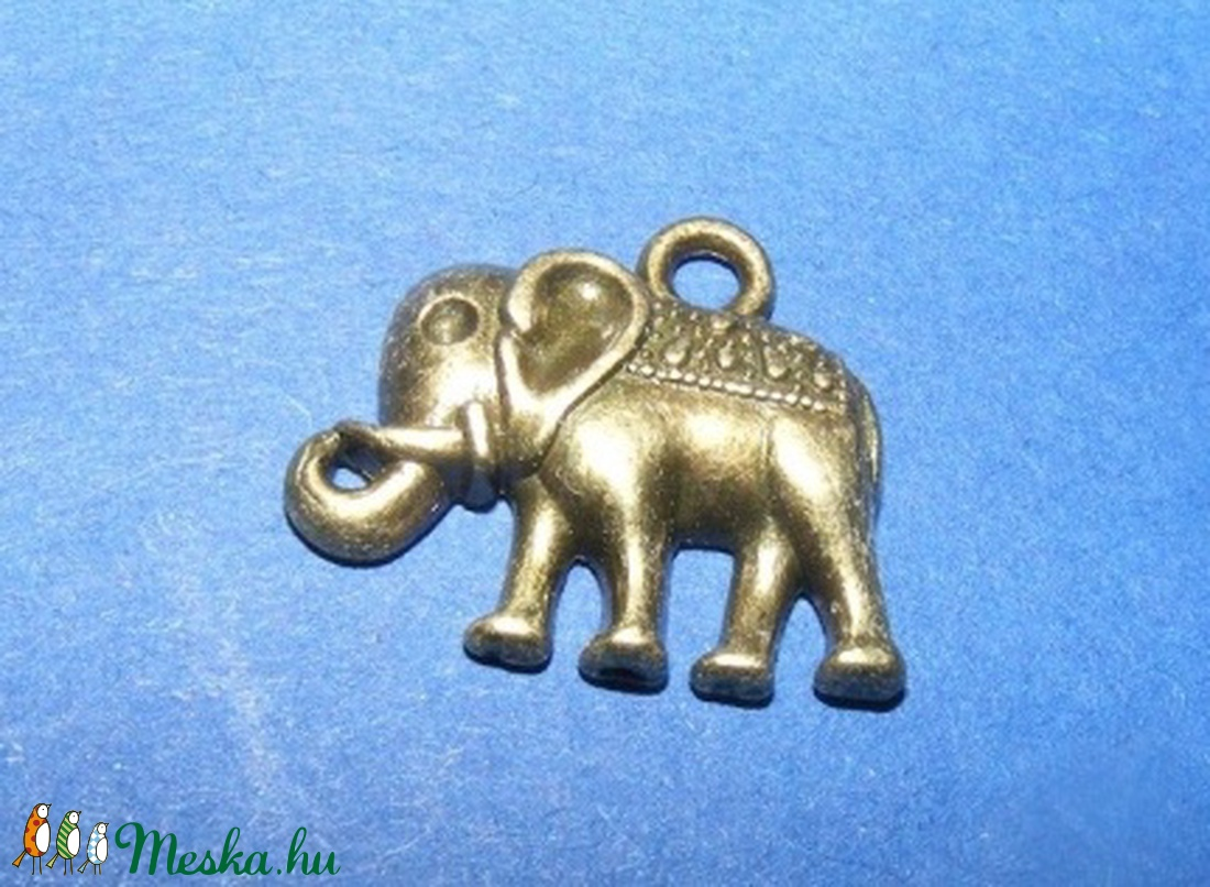 Medál (540. minta/1 db) - elefánt - gyöngy, ékszerkellék - Meska.hu