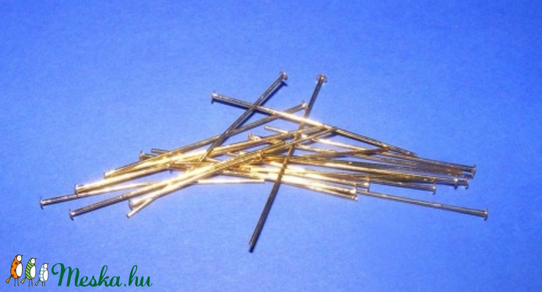 Szerelőpálca (1059/R minta - 35 mm/10 db)  - gyöngy, ékszerkellék - Meska.hu