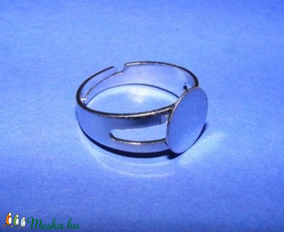 Gyűrű alap (26. minta/1 db) - gyöngy, ékszerkellék - Meska.hu