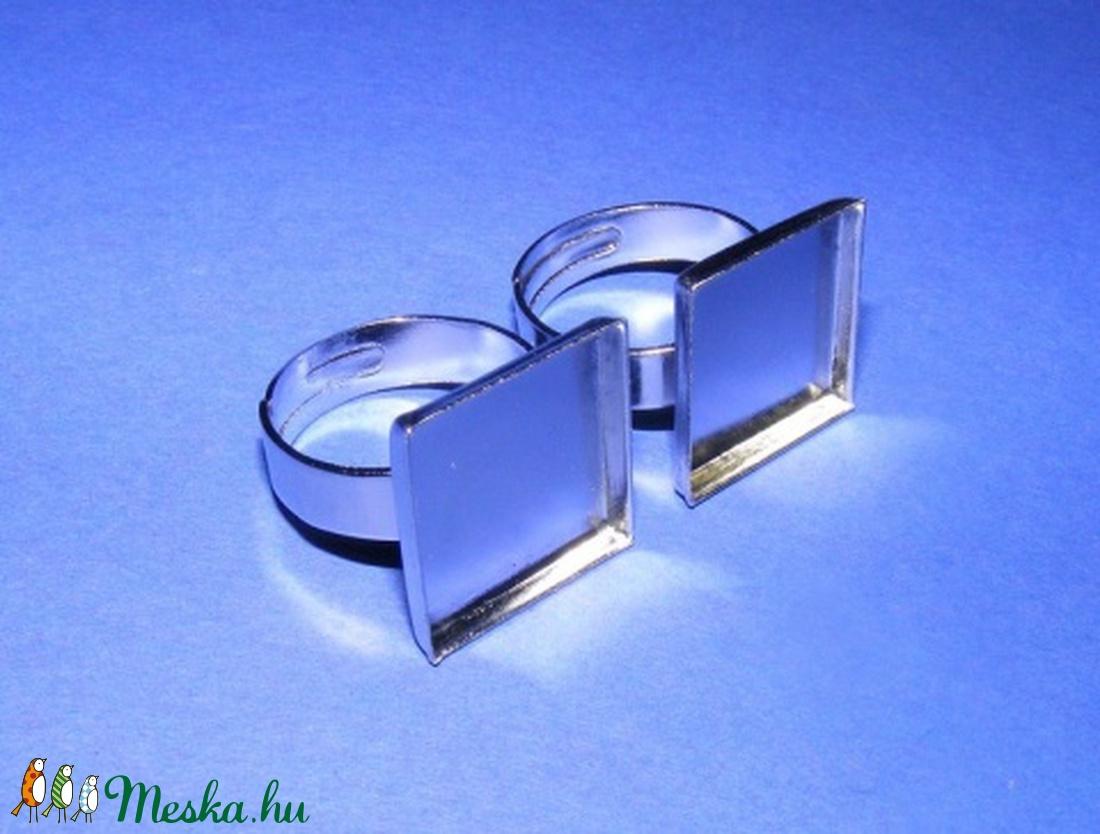 Gyűrű alap (48. minta/1 db) - gyöngy, ékszerkellék - Meska.hu