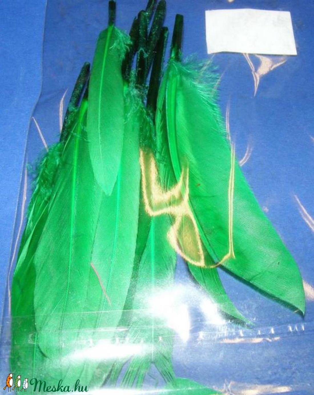 Dekorációs indián toll-19 (10 db) - zöld (kicsi) (csimbo) - Meska.hu