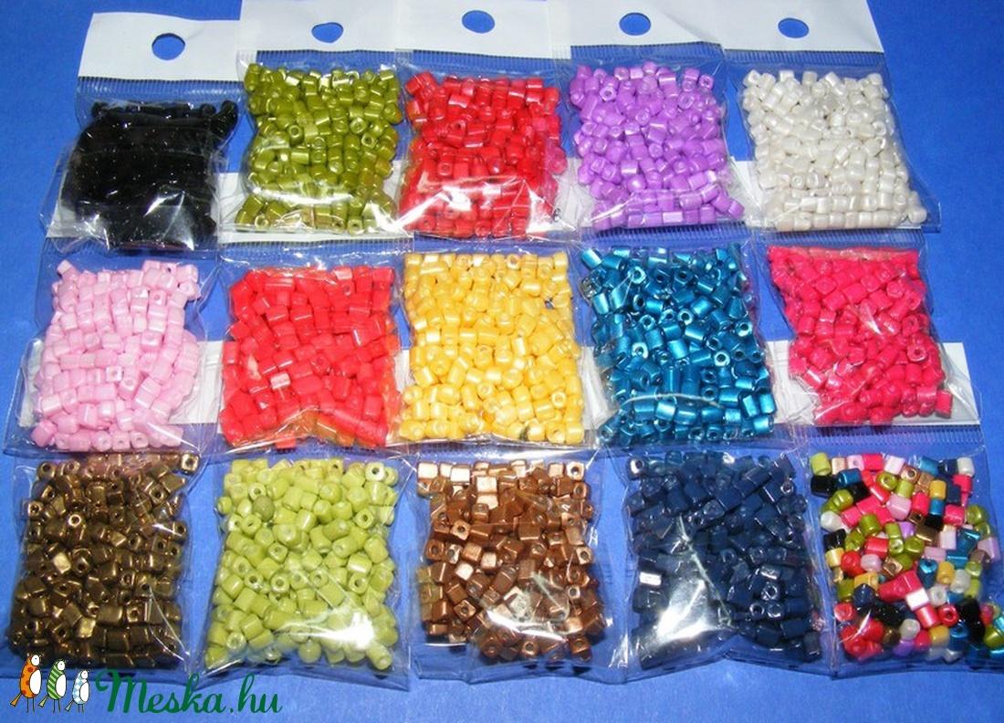 Szögletes gyöngy (37. minta/15 g) - metál arany - gyöngy, ékszerkellék - Meska.hu