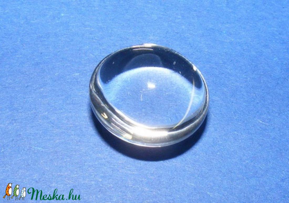Üveglencse - 22 mm (917. minta/1 db) - kerek - gyöngy, ékszerkellék - cabochon - Meska.hu