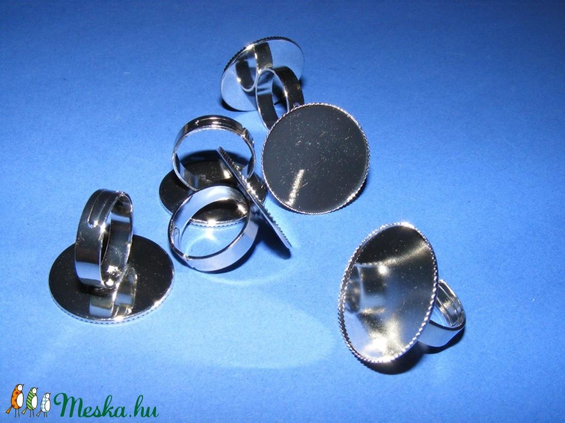 Gyűrű alap (67/C minta/1 db) - platinum - gyöngy, ékszerkellék - Meska.hu