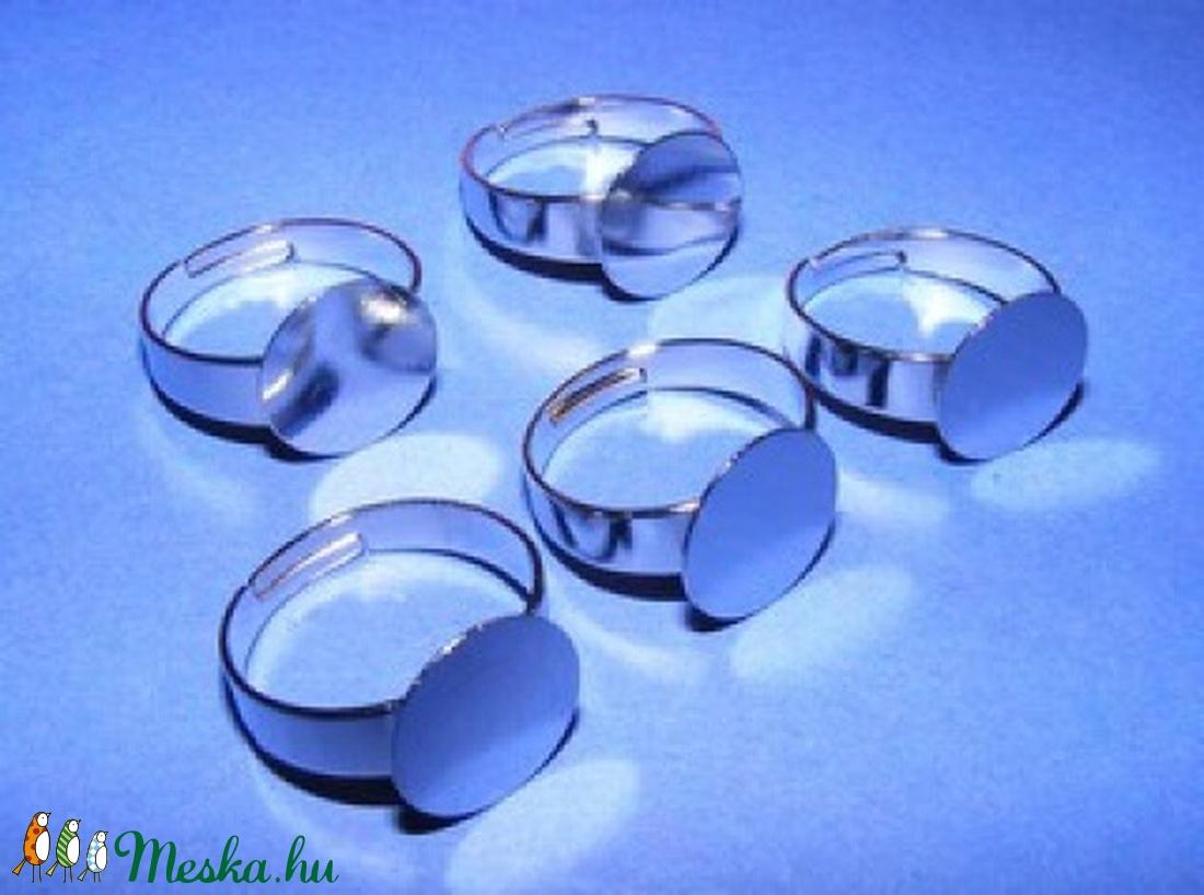 Gyűrű alap (29/B minta/1 db) - ezüst - gyöngy, ékszerkellék - Meska.hu