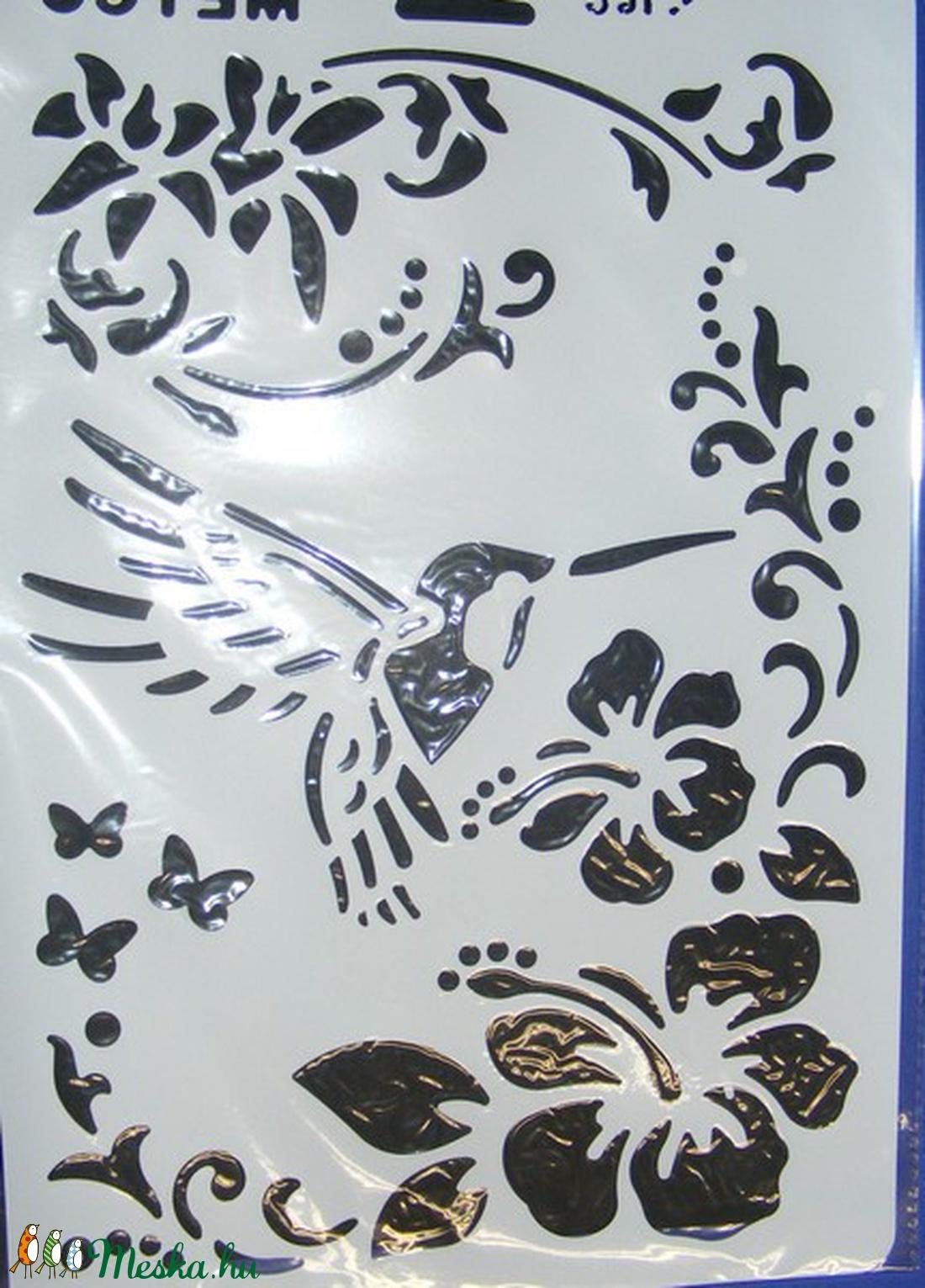Sablon-11 (30x21 cm/1 db) - kolibri (csimbo) - Meska.hu