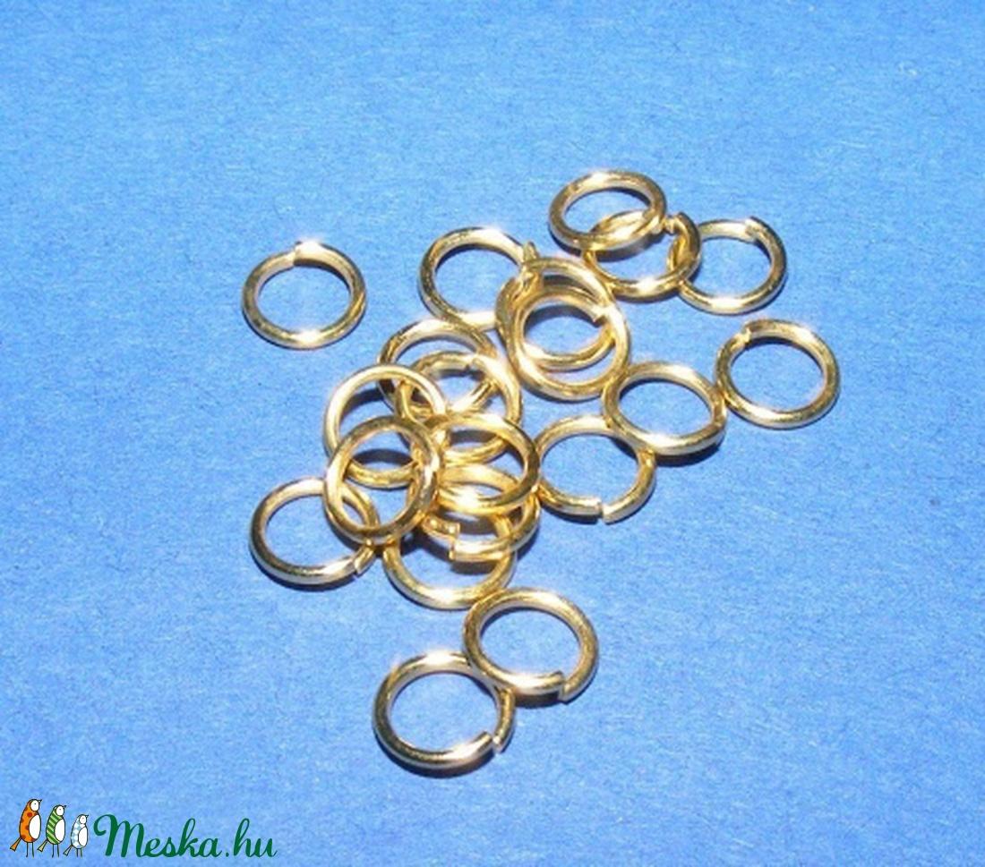 Szerelőkarika (1012/E minta/20 db) - 4x0,7 mm - gyöngy, ékszerkellék - Meska.hu