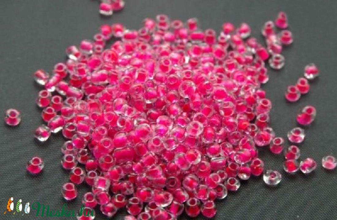 Kásagyöngy-61 (2 mm/100 g) - pink/színtelen (csimbo) - Meska.hu