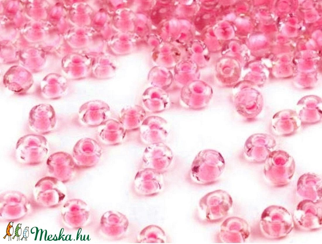 Kásagyöngy-65 (3 mm/100 g) - rágógumi rózsaszín/színtelen - gyöngy, ékszerkellék - Meska.hu