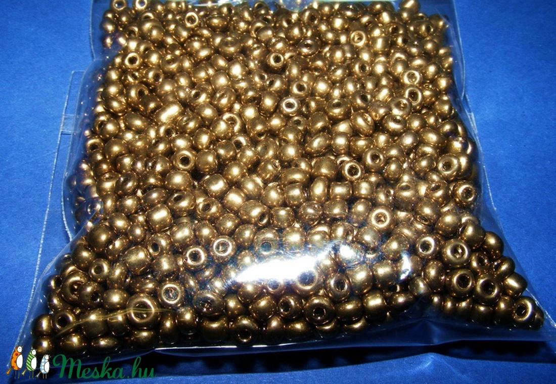 Kásagyöngy-30 (2 mm/100 g) - metál antik arany (csimbo) - Meska.hu