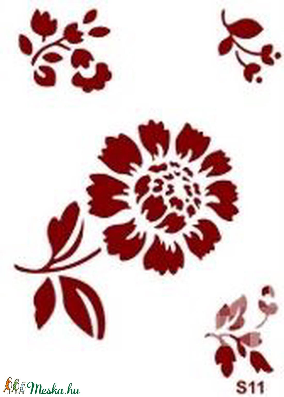 Sablon - S11 (14,5x20 cm/1 db) - virágok (csimbo) - Meska.hu