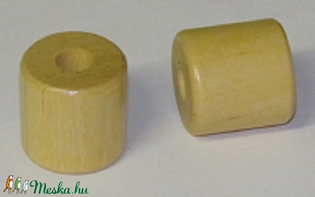 Fagyöngy-7 (17x10 mm/10 db) - natúr henger (csimbo) - Meska.hu
