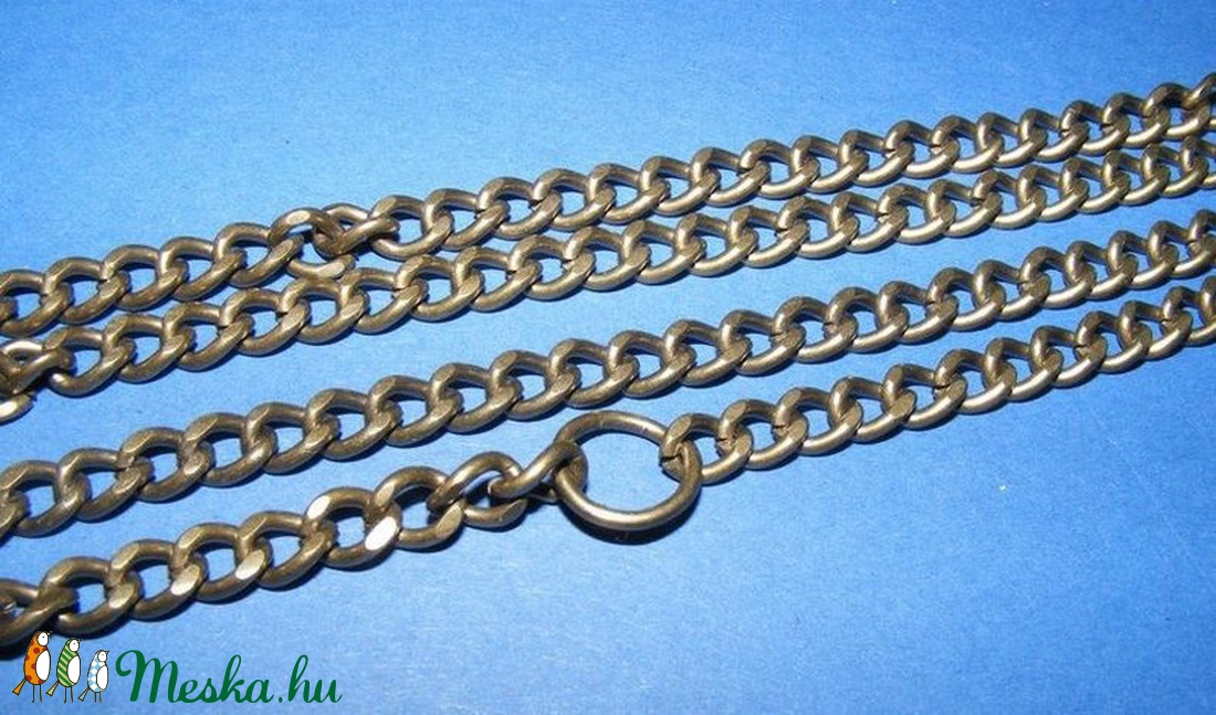 Szerelt lánc (10. minta/1 db) - 7,5x5,5x1,5 mm (erős) - gyöngy, ékszerkellék - Meska.hu