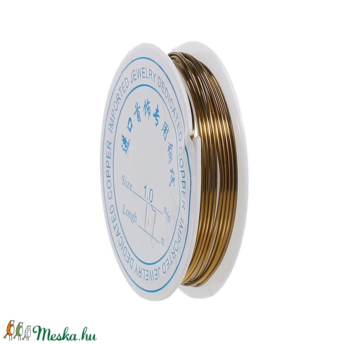 Ékszerdrót (� 1,0 mm/1 db) - bronz - gyöngy, ékszerkellék - drót - Meska.hu