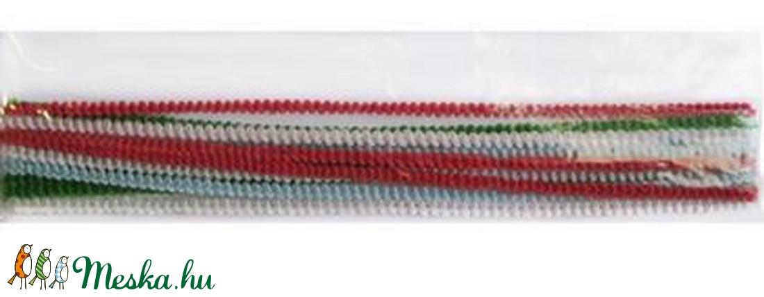 Göndör zseníliadrót (� 6 mm/30,5 cm) - fehér - vegyes alapanyag - Meska.hu