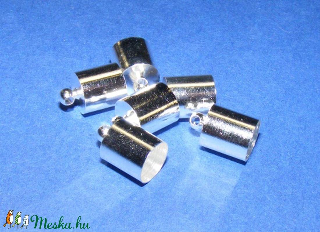Bőrvég (33. minta/1 db) - 12x8 mm - gyöngy, ékszerkellék - Meska.hu