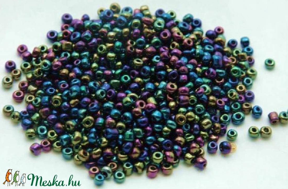 Kásagyöngy-127 (2 mm/100 g) - irizáló sötét metál színek (csimbo) - Meska.hu