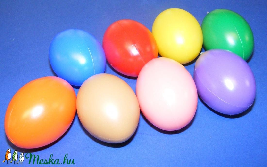 Műanyag tojás akasztó nélkül (sárga/1db) 6cm (csimbo) - Meska.hu
