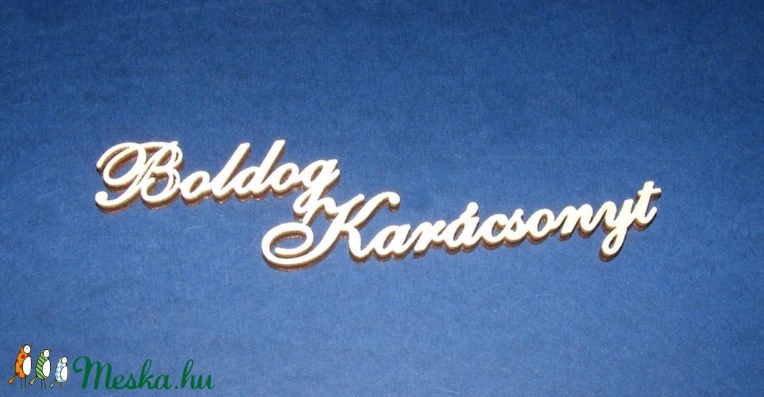 Felirat (16.minta 16 cm/1 db) - Boldog Karácsonyt (csimbo) - Meska.hu