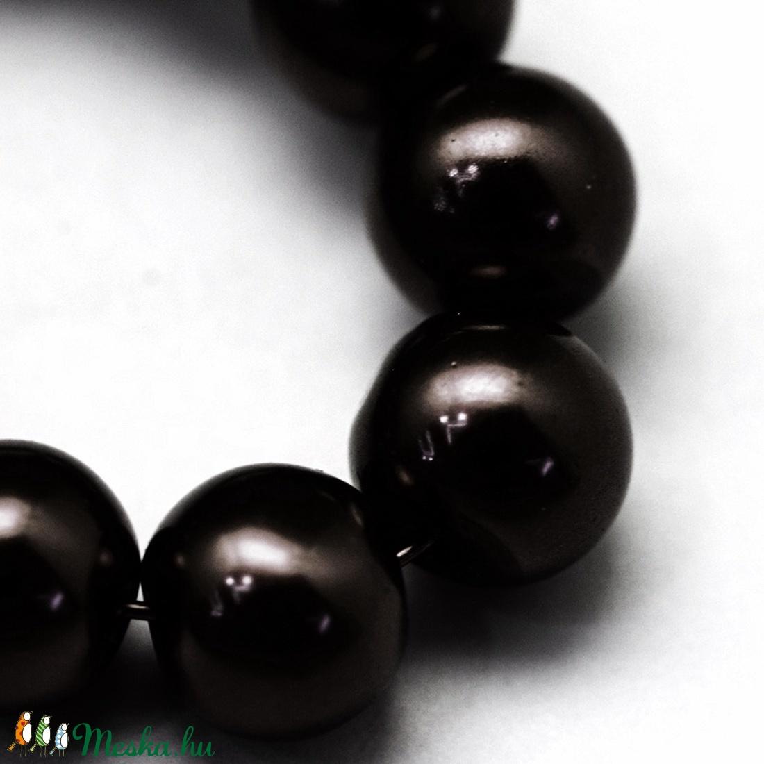 Viaszgyöngy-46 (� 10 mm/ 40 db) - fekete - gyöngy, ékszerkellék - Meska.hu