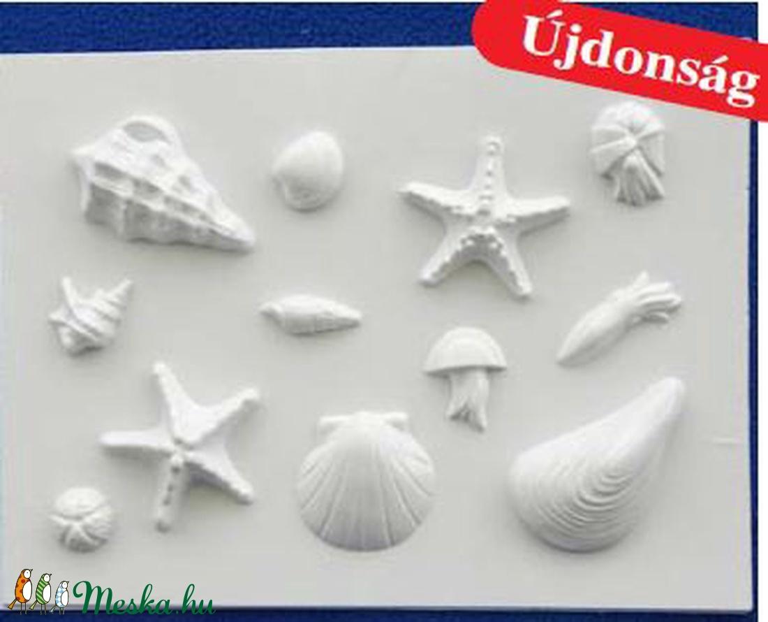 Tengeri-20 - gipszöntő forma (12 motívum) - tengeri élőlények (csimbo) - Meska.hu