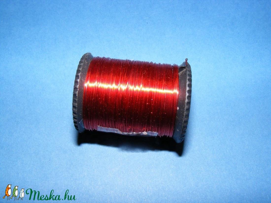 Gyöngyfűző drót - kicsi (� 0,3 mm/1 db) - piros -  - Meska.hu