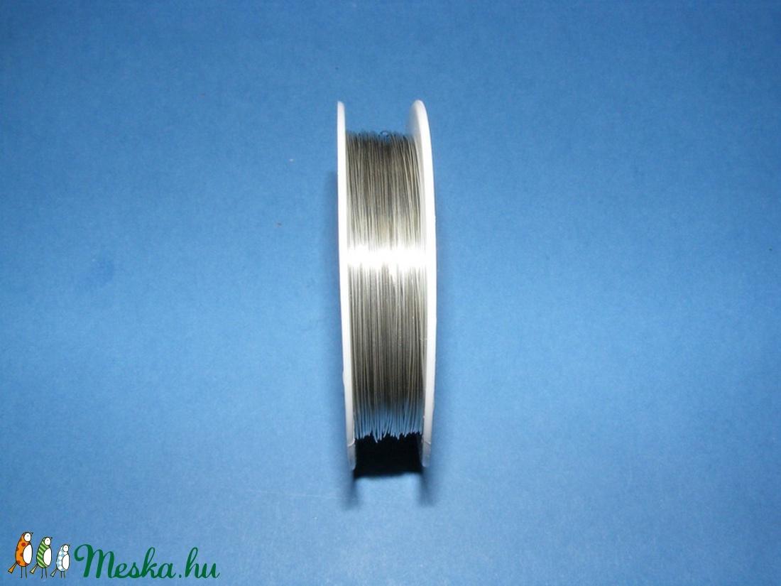 Ékszerdrót (Ø 0,6 mm/1 db) - ezüst színű (csimbo) - Meska.hu